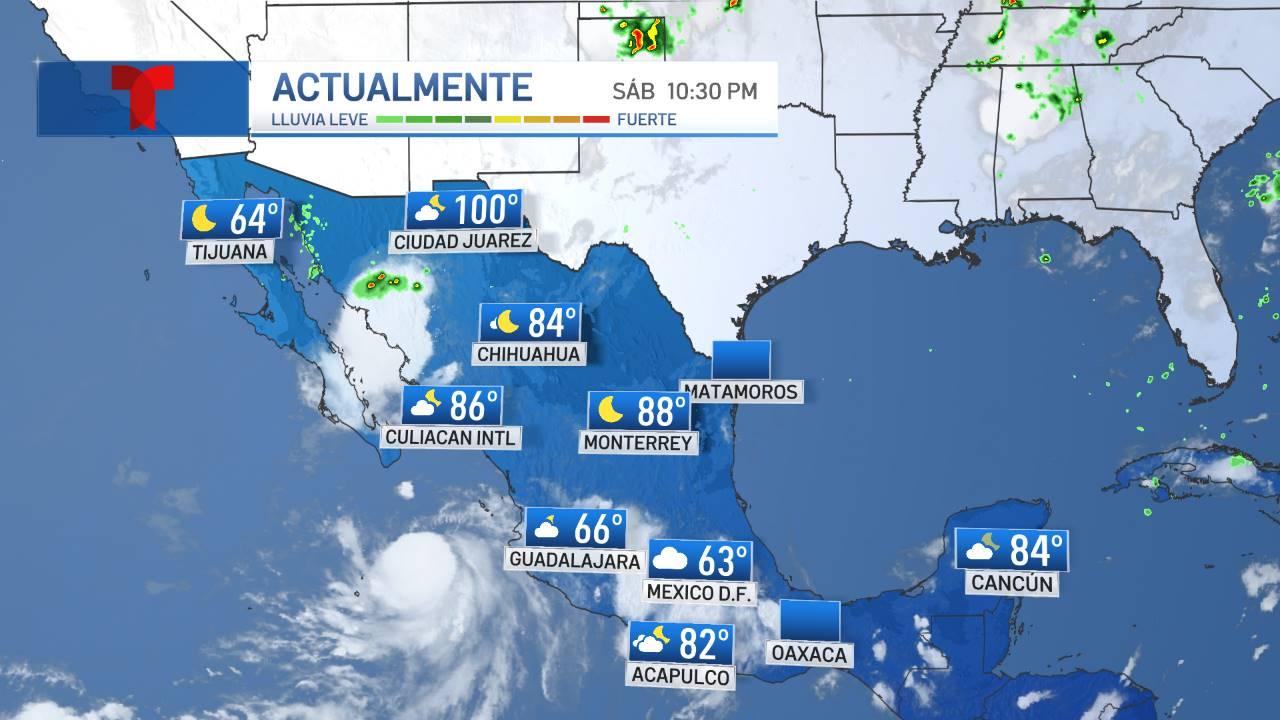 TEMPERATURAS ACTUALES EN MÉXICO